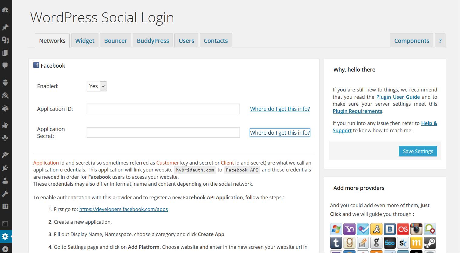 Networks Wordpress Social Login