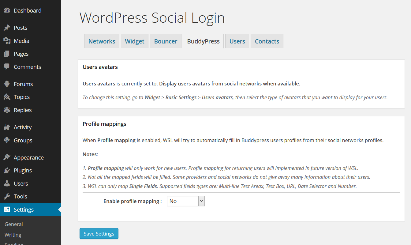 Buddypress - WordPress Social Login
