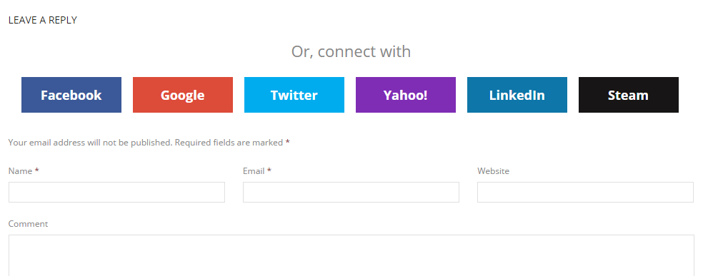 Themes - WordPress Social Login